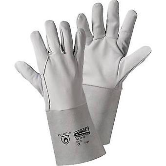 L+D worky ARGON-Flügel 1710F Split leather Welding gloves Size (gloves): 10, XL EN 12477-B, EN 388 , EN 407 CAT II 1 Pair