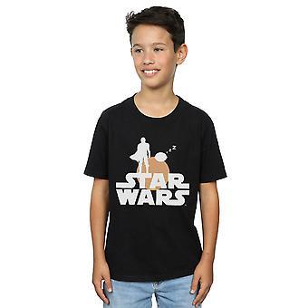 Star Wars pojat Mandalorian Mando ja lapsi siluetti T-paita