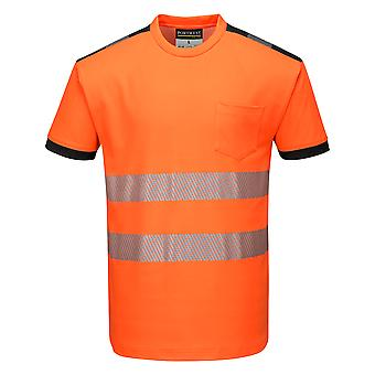 Portwest - PW3 Hi Vis Workwear Short Sleeve T-Shirt