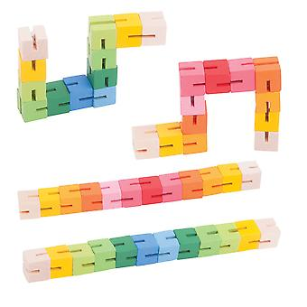 Bigjigs Toys Wooden Twister Blocks (Pack of 4) Traditional Stocking Fillers Gift