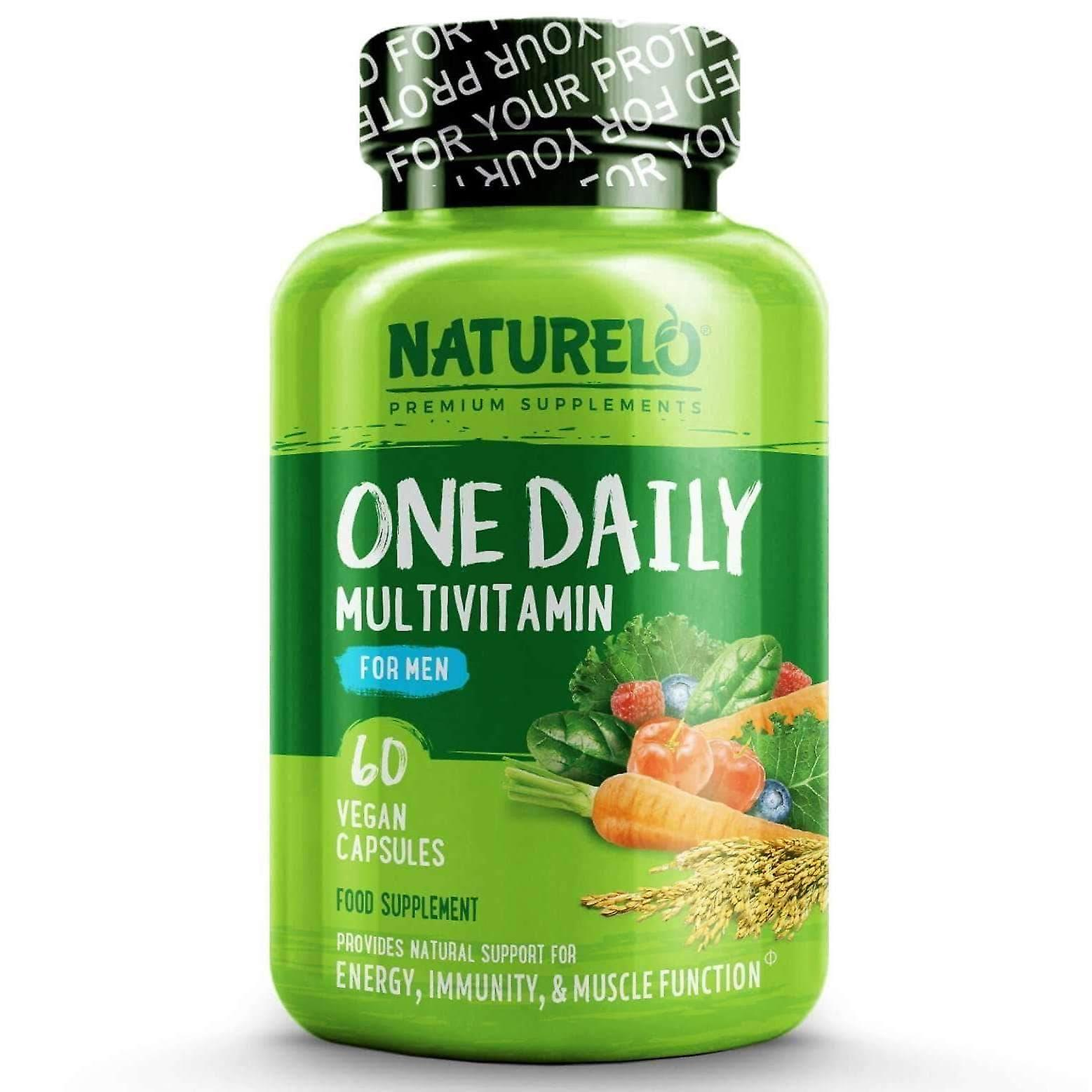 One daily multivitamin for men with natural vitamins and fruit extracts