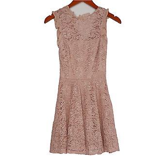 City Studio Jr Dress Sleeveless Allover Lace Zip Back Pink