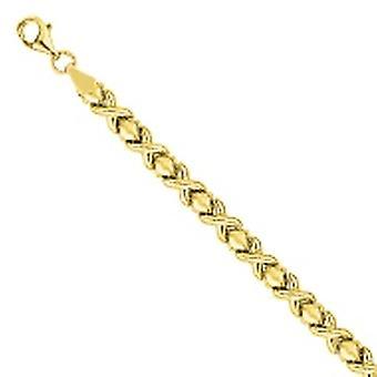 14k Gul Guld Mini Xo Stampato Armband 7,50 tums smycken gåvor för kvinnor - Längd: 7,25 till 7,5