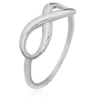 14k White Gold Infinity Ring Jewelry Gifts for Women - Ring Size: 6 to 8