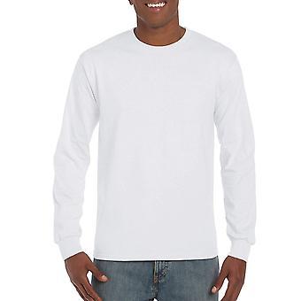 Gildan Men's Ultra Cotton Jersey Long Sleeve Tee, White,, White, Size Medium