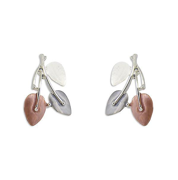 Multicoloured Leaves Bunch Earrings