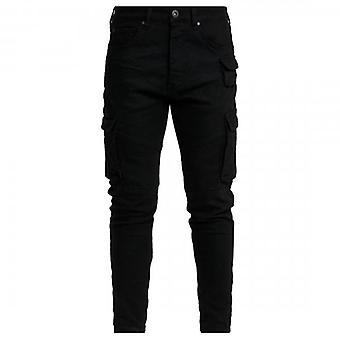 Glorious Gangsta Rogan Slim Stretch Denim Black Biker Jeans