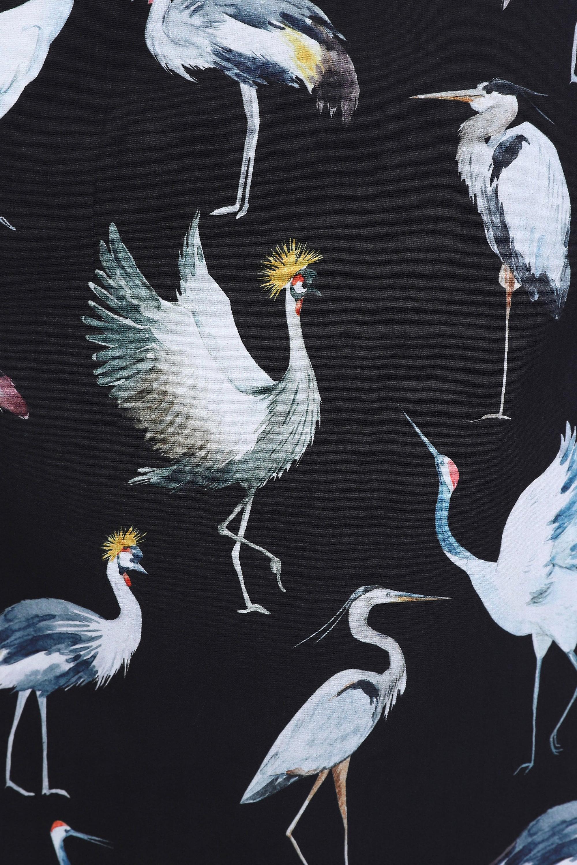 Jenson Samuel Large Bird Print Regular Fit 100% Cotton Shirt