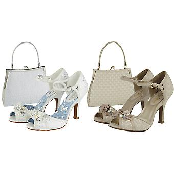 Ruby Shoo Women's Clarissa Peeptoe Occasion Sandals & Matching Toulouse Bag