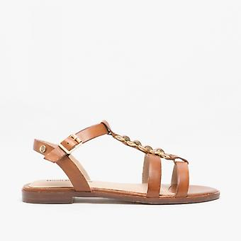 Hush Puppies Lucia Ladies Leather Sandals Tan