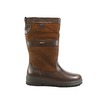 Dubarry Kildare Walnut Brown Leather Womens Waterproof Pull On Mid Calf Boots