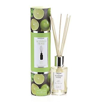 Ashleigh & Burwood Scented Home 150ml Reed Diffuser Gift Set Lime & Basil