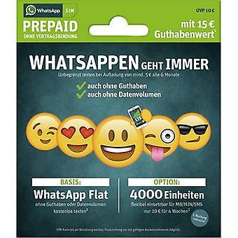 الWhatsApp بطاقة SIM مسبقة الدفع (بدون عقد)
