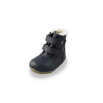 Bobux step up navy aspen waterproof fur-lined boots