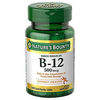 Nature's bounty b-12, 500 mcg, tabletten, 100 ea
