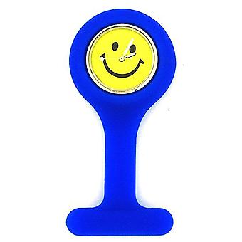 Boxx Unisex Blue Smiley Face Infection Control Gel Professional Fob Watch Boxx05