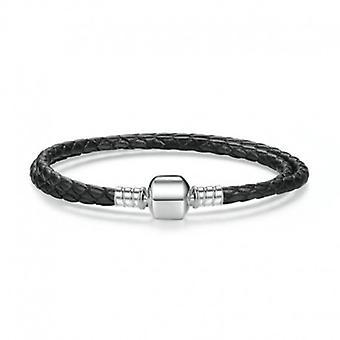 Double Woven Leather Charm Bracelet - 5157