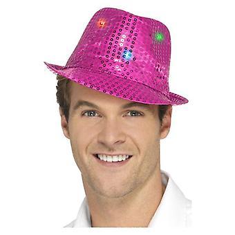Oplichten Sequin Trilby hoed