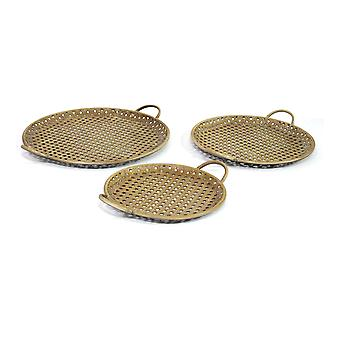 S/3 Carribean Dekorative metalbakker