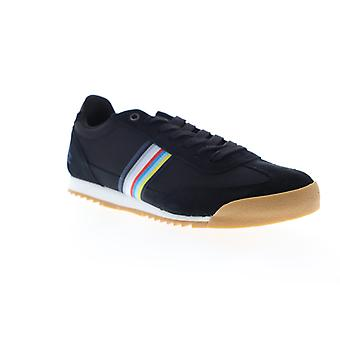 Original Penguin Austin  Mens Black Suede Low Top Sneakers Shoes
