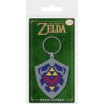 Zelda Hylian Shield Rubber Sleutelhanger