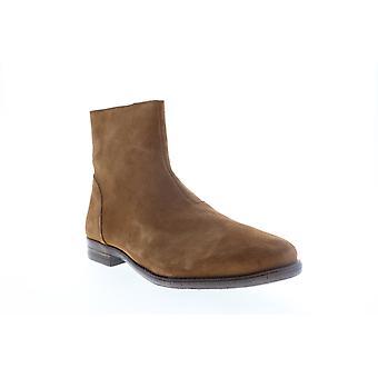 Robert Wayne TF Jacob  Mens Brown Suede Zipper Casual Dress Boots