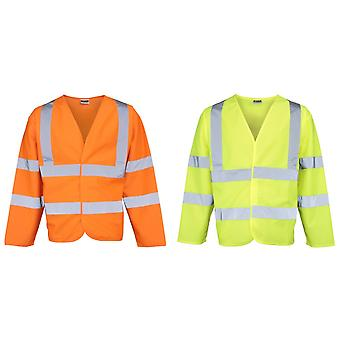 RTY High Visibility Unisex High Vis Motorway Coat (Pack of 2)