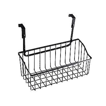 Hanging basket, wrought iron door back multifunctional storage hanging basket, kitchen bedroom bathroom, hanging finishing rack