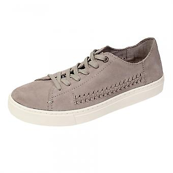 TOMS TOMS Lenox Desert Taupe Deconstructed Suede/Woven Panel Womens Sneaker
