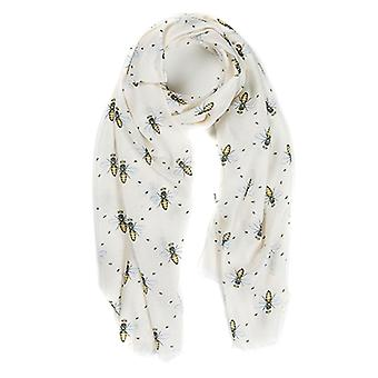 At Home In The Country Polyester Twill 70cm x 190cm Scarf - Queen Bee