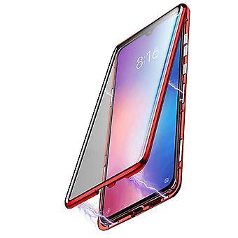 Mobiles Gehäuse mit doppelseitigem gehärtetem Glas für Xiaomi Mi 9 SE - Rot