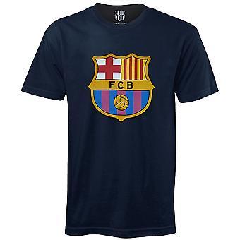 FC Barcelona Pojat T-paita Crest Lapset VIRALLINEN Jalkapallo Lahja