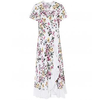 Mustikka Italia Pellava Röyhelö Kukka mekko