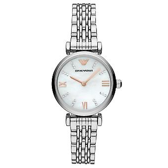 Armani Watches Ar11204 Mother Of Pearl & Silver Stainless Steel Ladies Watch