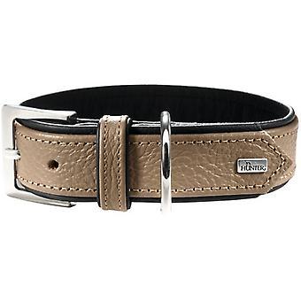 Hunter Capri Halsband für Hunde Farbe Stein und Schwarz
