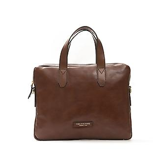 The Bridge Brown Leather Briefcase