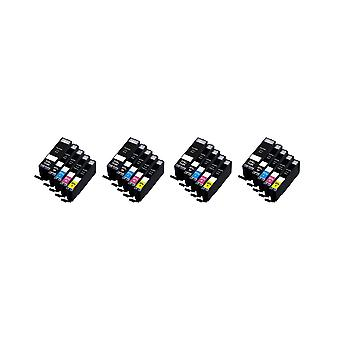 RudyTwos 4x Replacement for Canon PG-550 CLI-551 Set Ink Unit Black Cyan Magenta Yellow & 1 Extra Black Compatible with Pixma iP7250, iP8750, iX6850, MG5450, MG5550, MG6350, MG6450, MG7150, MX725, MX9