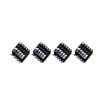 RudyTwos 4 x korvaa Canon PG-550 CLI-551 asettaa muste yksikkö musta syaani Magenta keltainen & 1 Extra musta yhteensopiva Pixma iP7250, iP8750, iX6850, MG5450, MG5550, MG6350, MG6450, MG7150, MX725, MX9