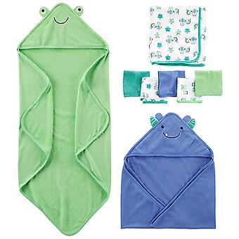 Simple Joys by Carter's Baby Boys' 8-Piece Towel and, Blue/Green, Size One Size