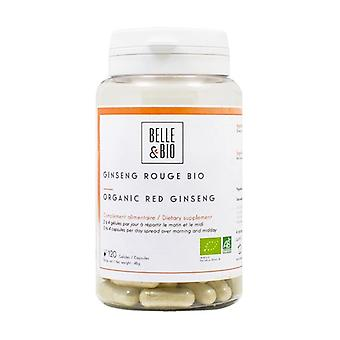 Organic red ginseng 120 vegetable capsules