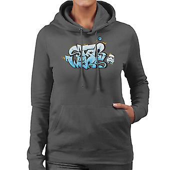 Star Wars Stormtrooper Graffiti Women's Hooded Sweatshirt