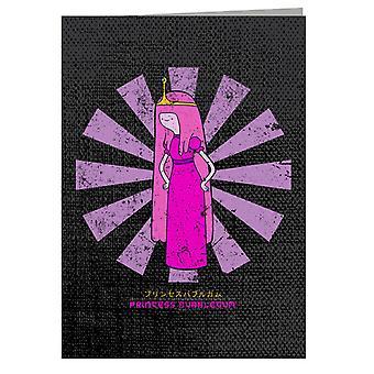 Prinsesse Bubblegum Retro japansk lykønskningskort