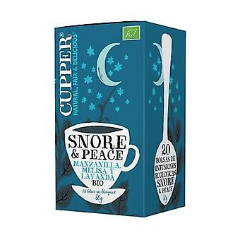 Snore & peace bio infusion to sleep well: chamomile, lemon balm and lavender 20 infusion bags