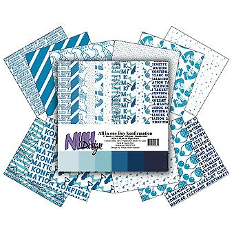 NHH Design All in One Boy Konfirmation 12x12 Inch paper Pack