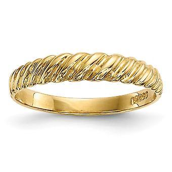 14k Madi K Kids Gepolijst Twist Ring Maat 4.50 Sieraden Cadeaus voor Vrouwen - 1.2 Gram
