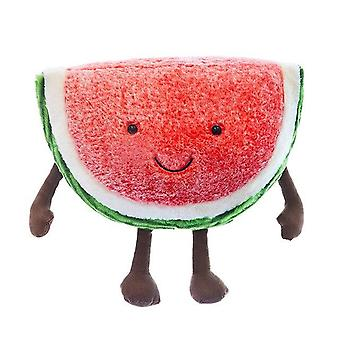 30cm Cute Watermelon Plush Toys - Doll Stuffed Plant  Cushions Kawaii Cartoon  Fruits Pillow Soft Toy For Children