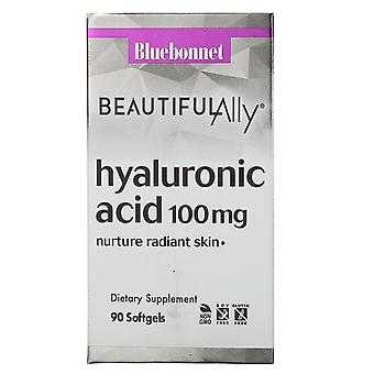 Bluebonnet Voeding, Beautiful Ally, Hyaluronzuur, 100 mg, 90 Softgels