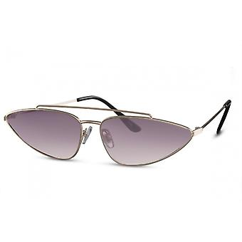 Sunglasses Women's Butterfly gold/Brown (CWI2268)