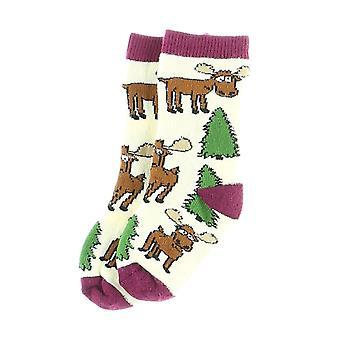 Lazy One Moose Hug ISK320 Baby Girl's Socks