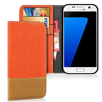 Samsung Galaxy S7 Edge Phone TPU Protection Jeans Shell Denim Shockproof Mobile Case